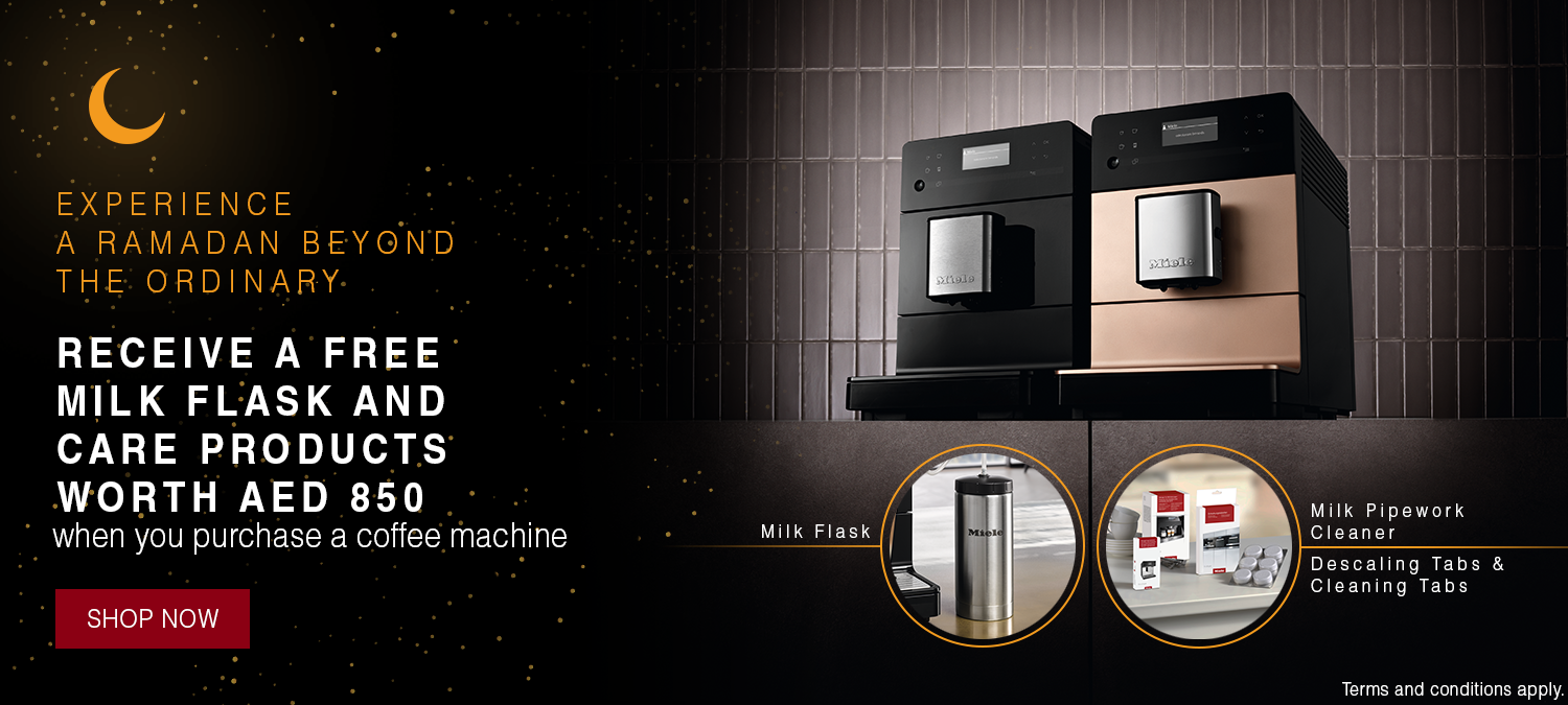 Ramadan 2020 - Receive a free milk flask and care products worth AED 850 when you purchase a coffee machine